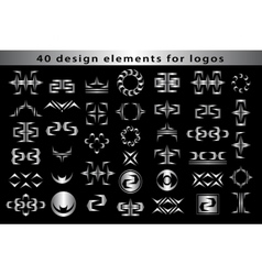 Set creative icon monogram design elements vector