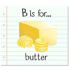 Alphabet b is for butter vector image