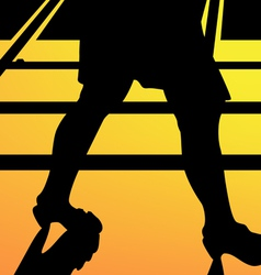 Leg walking woman silhouette vector