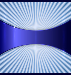 Abstract metallic color plate with radial lines vector