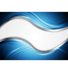Abstract wavy metallic design vector