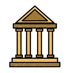 antique greek building vector image