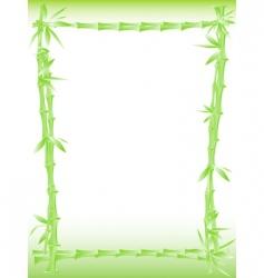 Bamboo border vector