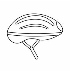 Bicycle helmet icon outline style vector