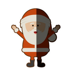 Color silhouette of santa claus with open arms and vector