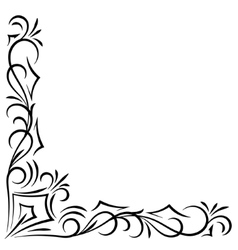 Doodle abstract handdrawn corner frame vector