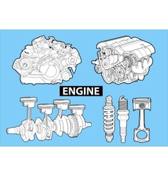 engines vector image vector image