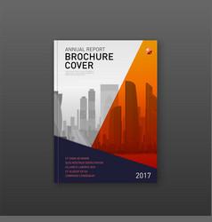 Finance corporate brochure cover design template vector