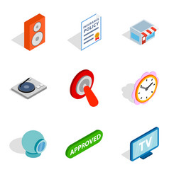 getting information icons set isometric style vector image