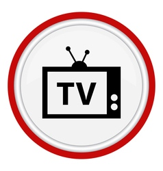 Icon with the image of the tv vector