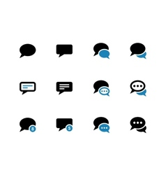 Message bubble duotone icons on white background vector image