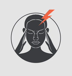 migraine logo vector image vector image