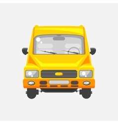 Minibus front view vector image