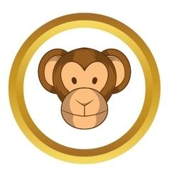 Monkey head icon cartoon style vector