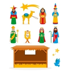 Nativity collection vector