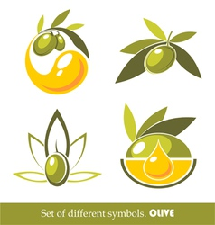 olive icons vector image vector image
