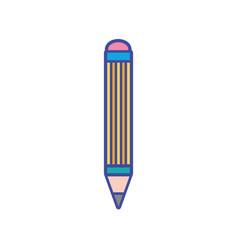 Pencil school education to study utensil vector