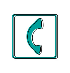 phone emblem icon image vector image