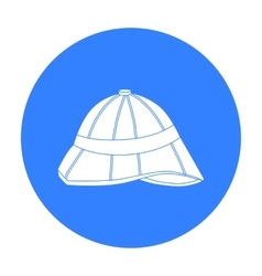 Pith helmet icon in black style isolated on white vector image