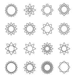 Sacred geometry symbols and elements vector image