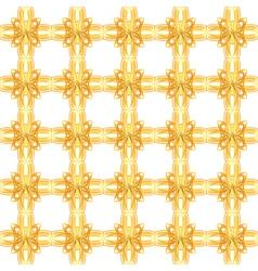 seamless gold lattice vector image vector image