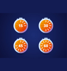 Set of round timers preloaders vector