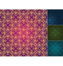 set of seamless vintage backgrounds vector image vector image