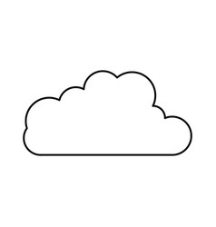 Sketch silhouette cloud shape in cumulus icon vector