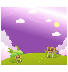 Sky green landscape vector