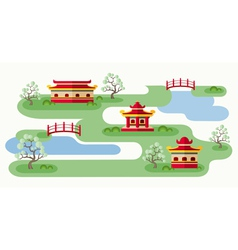 Somewhere in japan vector