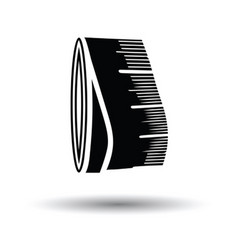 Tailor measure tape icon vector image
