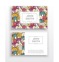 Template business cards vector