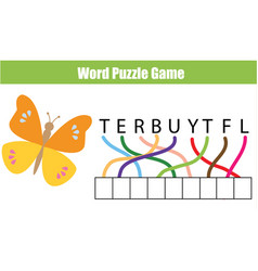 words puzzle children educational game place the vector image