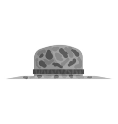 Fishing hat icon black monochrome style vector image