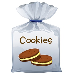 A pouch bag of cookies vector