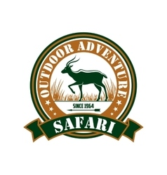 Hunting safari outdoor adventure club sign vector