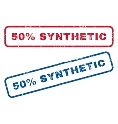 50 percent synthetic rubber stamps vector