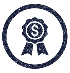Business award rounded grainy icon vector