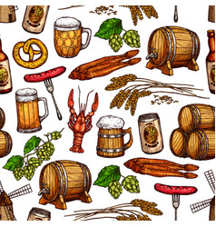 Beer drink seamless pattern background vector
