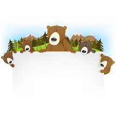 cute bear family background vector image