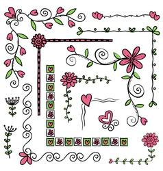 Corner doodles vector image