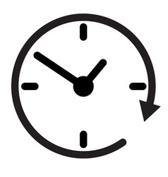 24 hour assistance clock clock iconclock icon vector