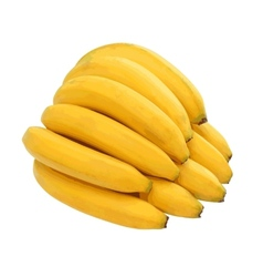 Bunch of bananas isolated on white background vector