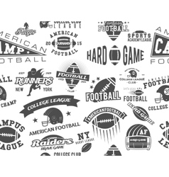 American football seamless pattern vector