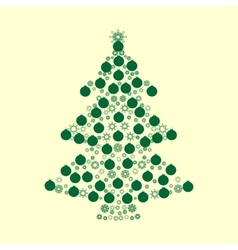 Christmas tree balls green holiday background vector