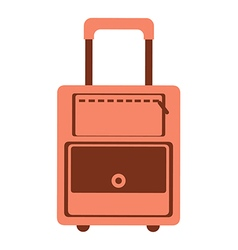 Red travel bag vector