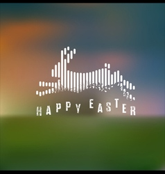 Happy easter running rabbit vector