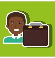 business person with portfolio isolated icon vector image