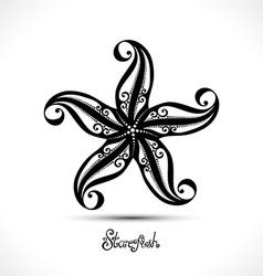 Abstract starfish vector