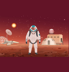 astronaut in spacesuit vector image